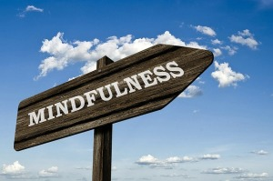 Road sign pointing to Mindfulness