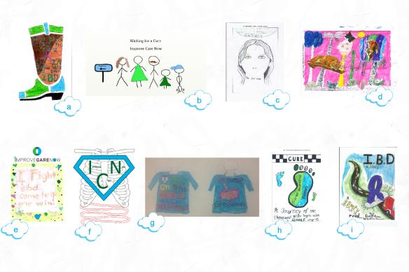 Nine patient-designed t-shirt concepts