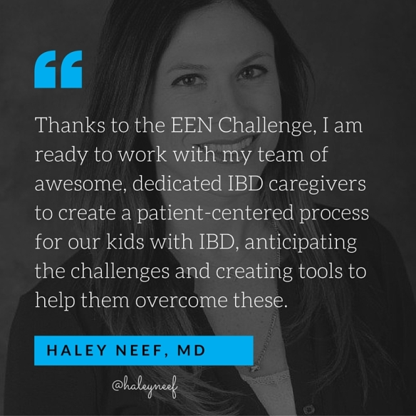Haley Neef's quote about the EEN Challenge