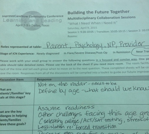 Screenshot of Building Our Future Together Exercise from ICNCC16S